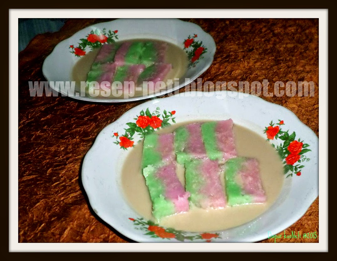 Rainbow Jongkong cake recipe at kusNeti kitchen @2015