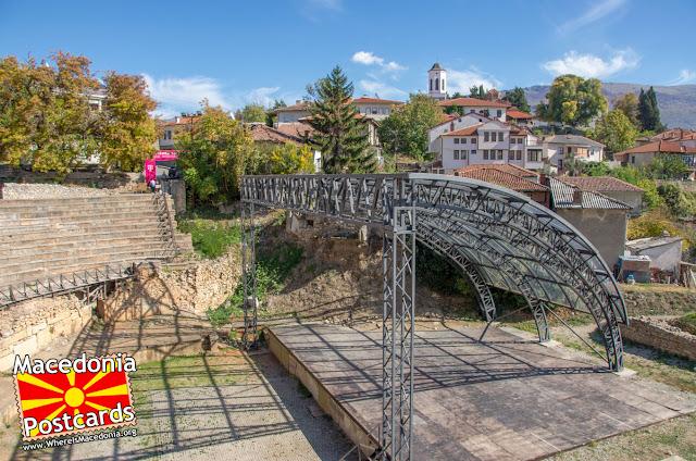Антички театар - Охрид, Македонија - поглед кон запад