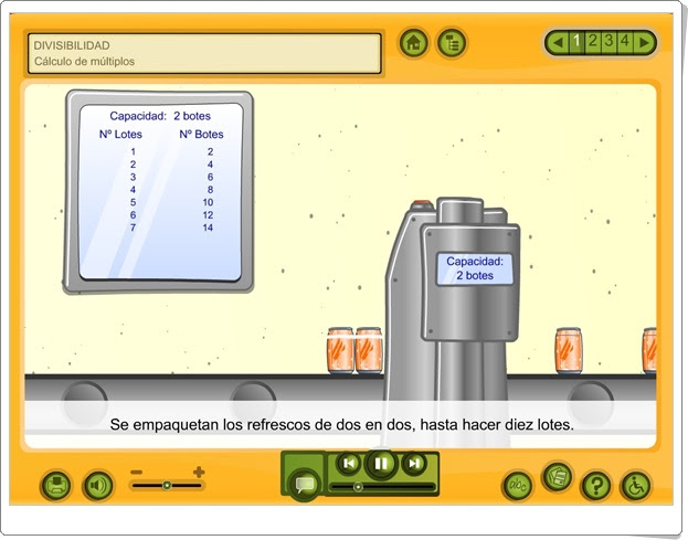 CÁLCULO DE MÚLTIPLOS (Aplicación Interactiva sobre Divisibilidad de Primaria)