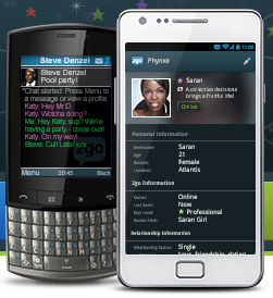 2go chat application on phone