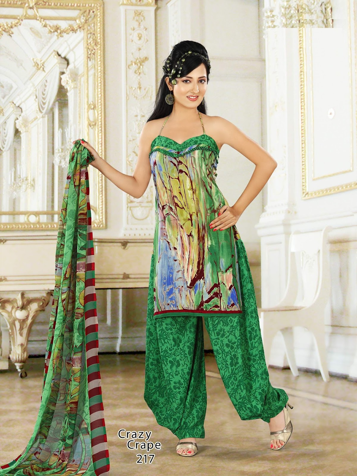 Bengali Kurti Dresses Collection 2013 For Women By Crazy Crape