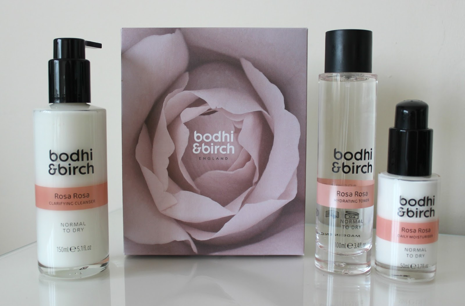 A picture of Bodhi & Birch Rosa Rosa Skincare Set