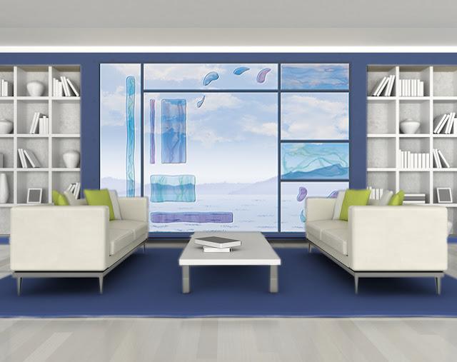 decoration en bleu pour le salon