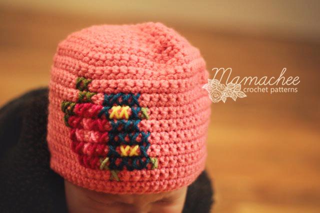 Free Crochet Pattern – Cross Stitch Hat | mamachee