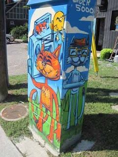 Uber 5000 painted utility box