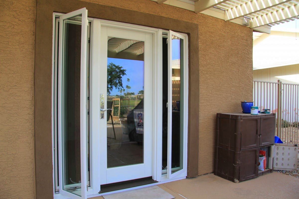 Exterior Double French Doors With Sidelights. front entry ...