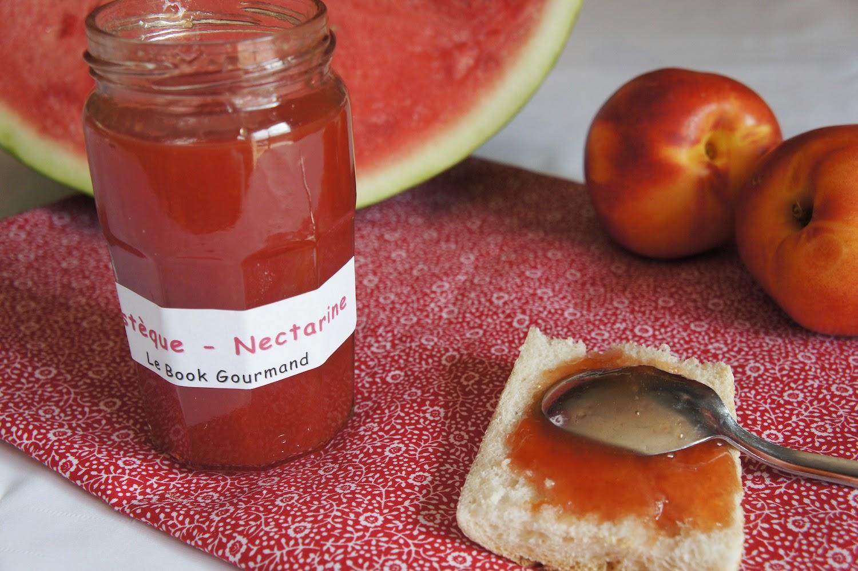 confiture nectarine framboise