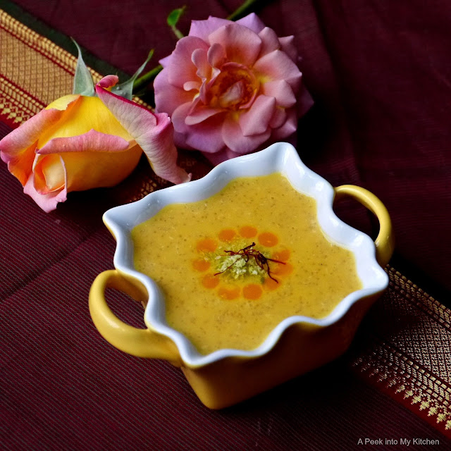 Amaranth (Rajkira) Mango Phrini ~ Day 88