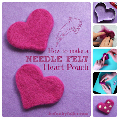 Quick and Easy Needle Felted Heart Craft Tutorial for Valentine's Day