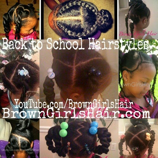 ♥Brown Girls Hair♥ Back To School Hairstyles For Girls
