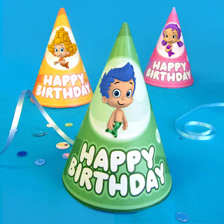 free printable bubble guppies party hats