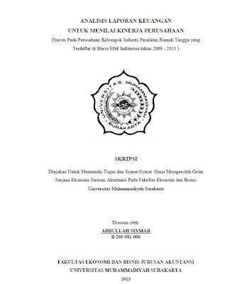 Contoh Proposal Skripsi Akuntansi Universitas Muhammadiyah