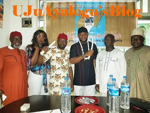 Wild Jubilation as Nollywood Actor, Yul Edochie Picks Anambra Governorship Nomination Form (Photos)
