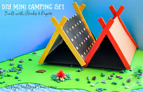 popsicle stick tent crafts