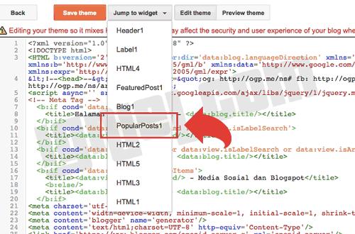 Cara Pasang Iklan AdSense di Antara Popular Post Blogger