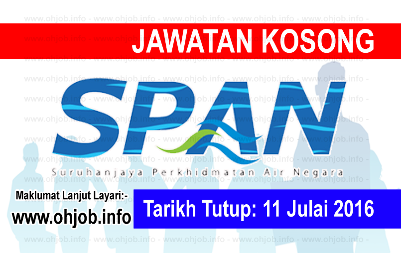 Jawatan Kerja Kosong Suruhanjaya Perkhidmatan Air Negara (SPAN) logo www.ohjob.info julai 2016