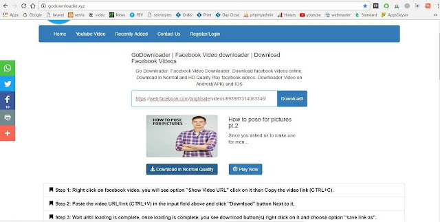 How To Download Facebook and other Online videos