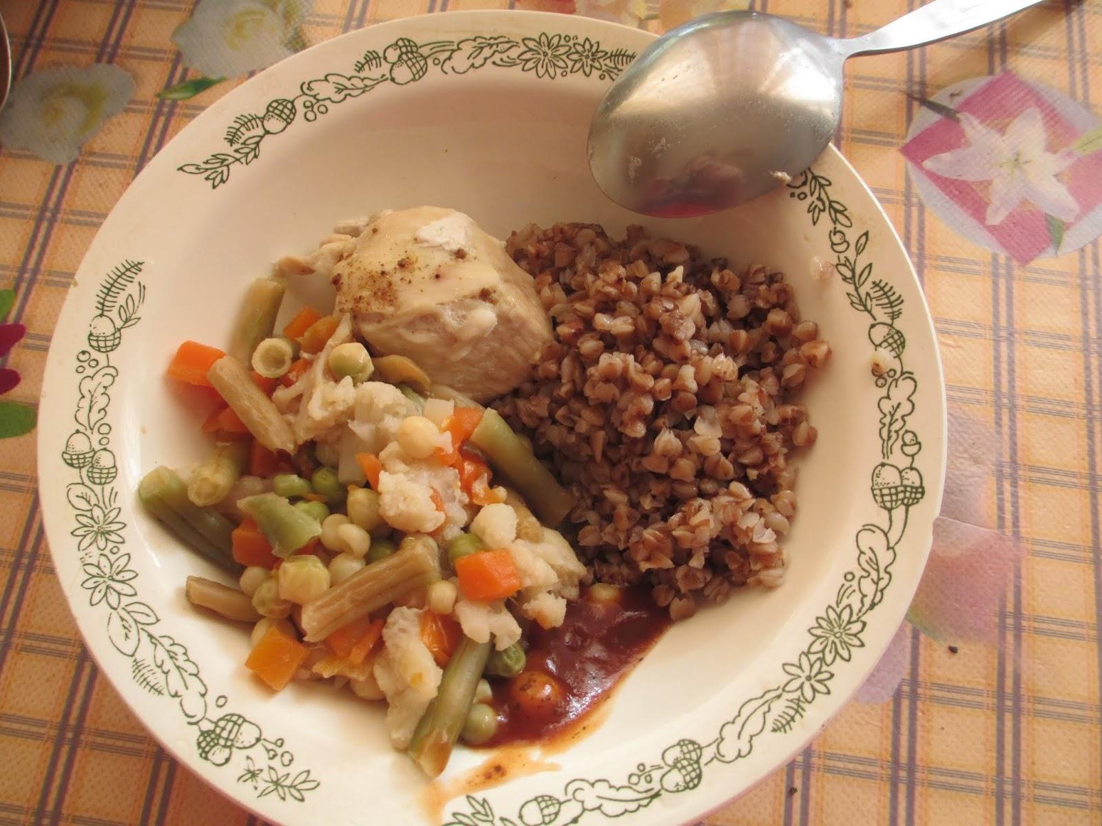 гречневая диета с овощами