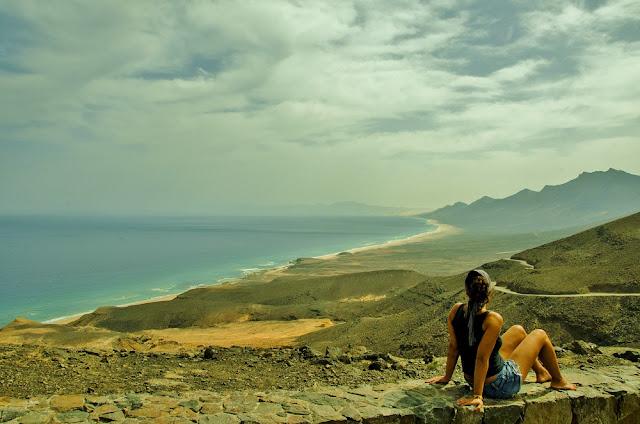 playa de cofete en fuerteventura - vistas desde Agua Oveja