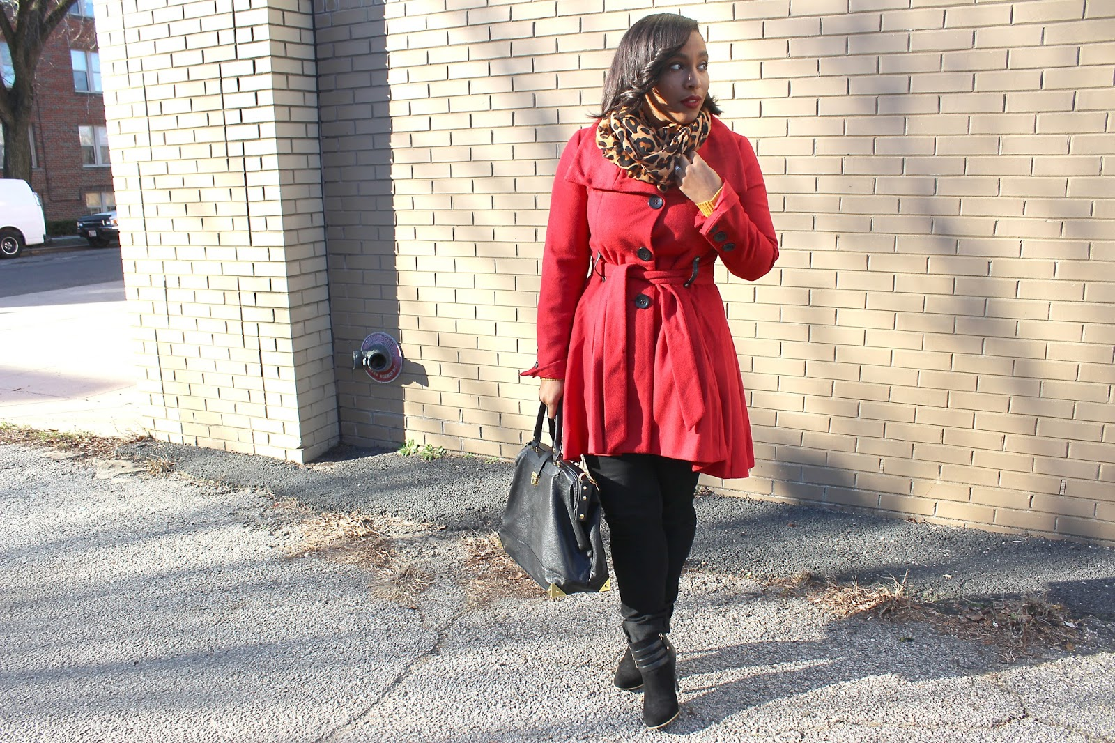 Washington, DC, the district, lifestyle blog, red coat, style blogger