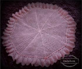 Circular Crochet Baby Shawl free pattern