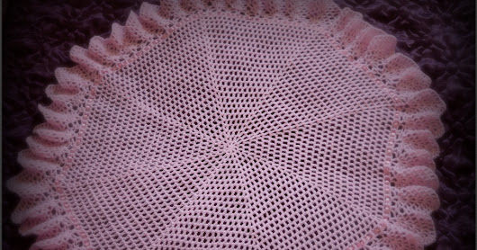 FREE Crochet Pattern to make a Beautiful Circular Crochet Baby Shawl