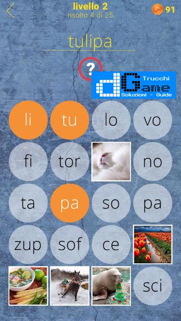 650 Parole soluzione livello 2 (1 - 25) | Parola e foto