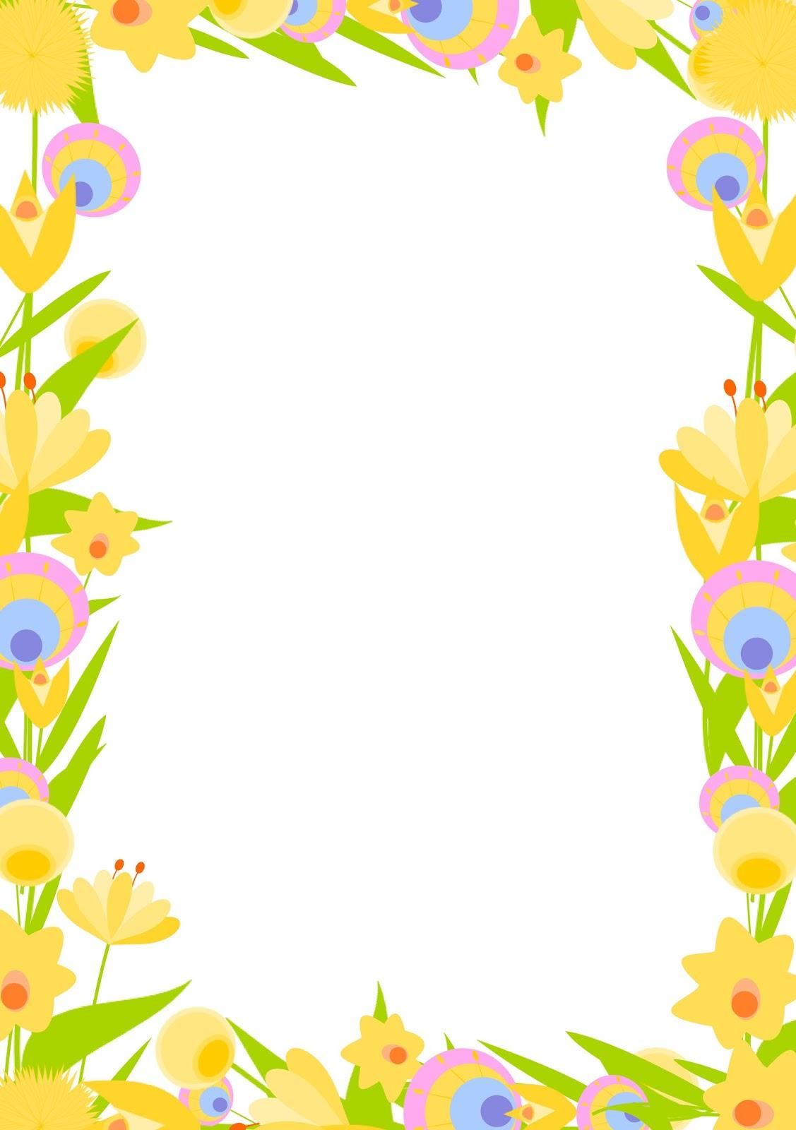 Free digital floral frame png and DIY stationery ...