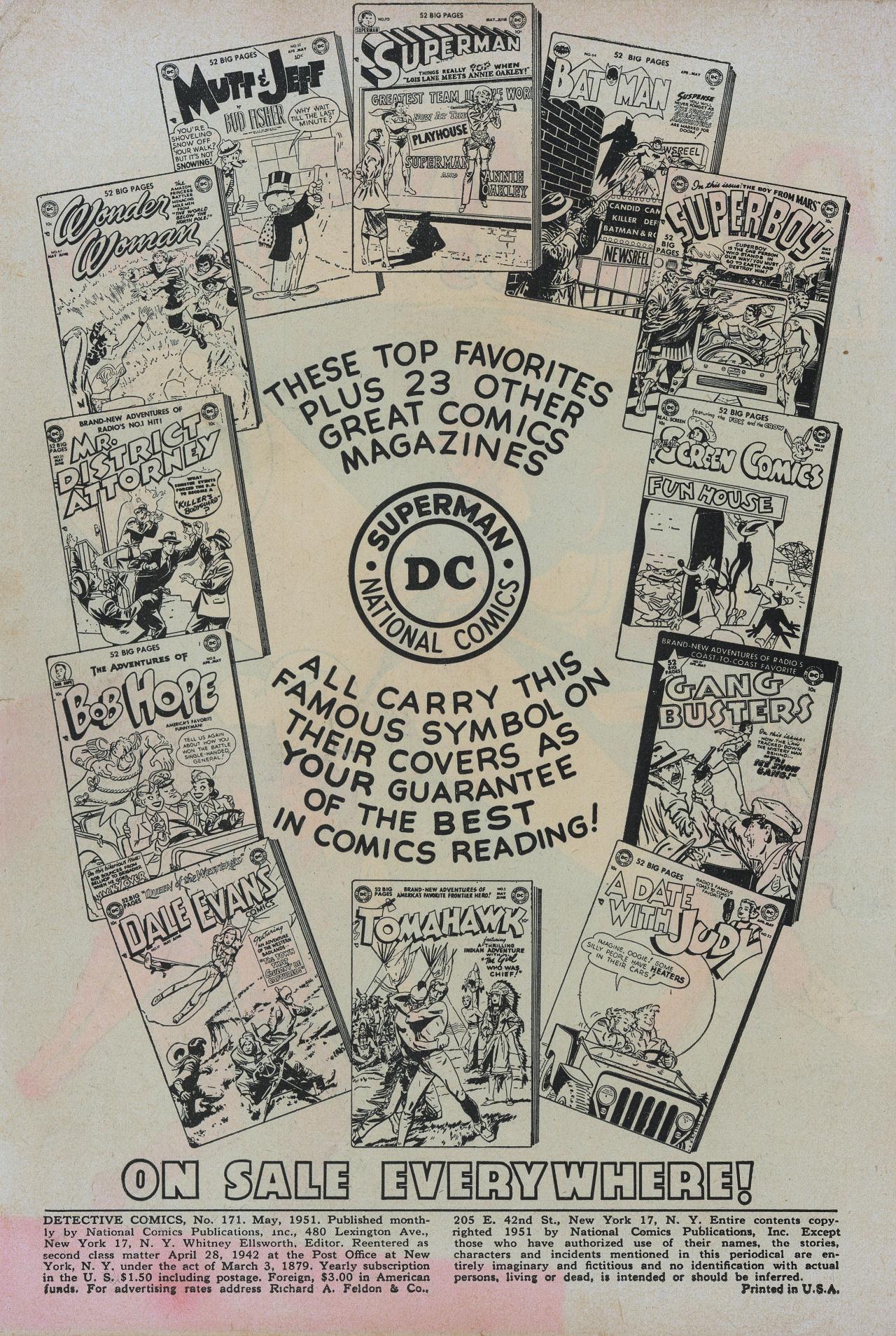 Detective Comics (1937) 171 Page 1