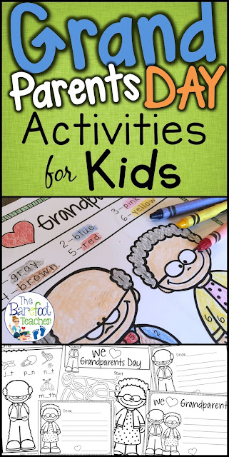 Check out these adorable Grandparents Day activities for your Preschool, Kindergarten, and even First Grade students. They'll go perfect with the other arts and crafts you have planned for your students. Included are Love Notes, Color-by-Number, phonics work, mazes, color sheet, a card to make, upper and lower alphabet practice, number writing, and more! #grandparentsday #grandma #grandpa #grandparentsdayforkids #kindergarten #firstgrade #preschool #kinder #activitieforkids