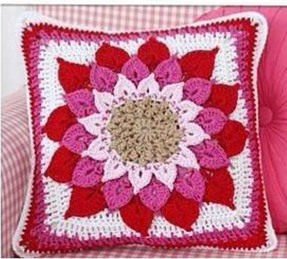 Patrón #1699: Cojín Estrella a Crochet
