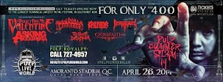 Pulp Summer Slam 14 – Foreign and Local bands line up and time of performance