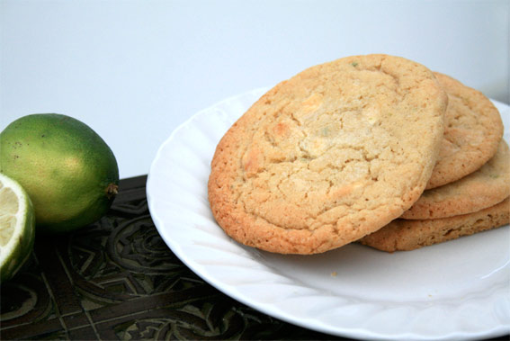 Lime White Choc cookies