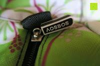 Reißverschluss: Aosbos Wasserdichte Lunch Tasche Isolierte Thermo Picknicktasche für Lebensmitteltransport(Grün Blumen)