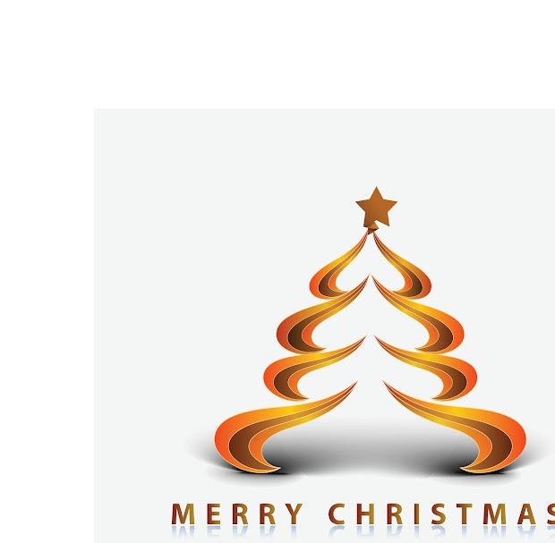 Merry Christmas Modern Tree Clip Art