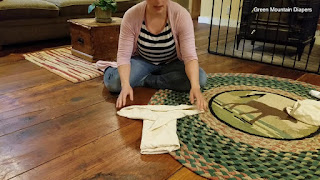 Image: The Jo Fold - How to Fold a Flat Diaper, by Green Mountain Diapers