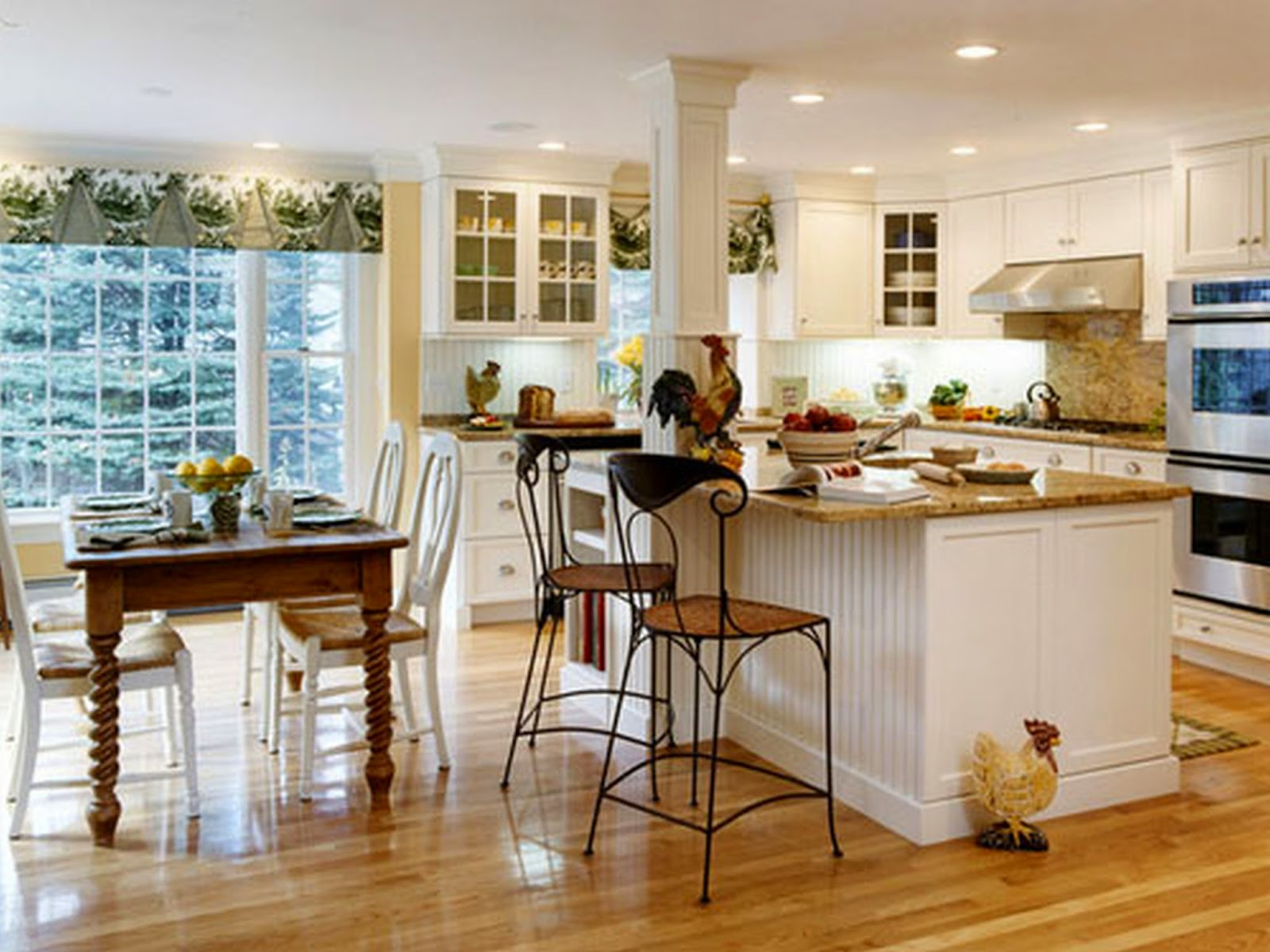 Kitchen Island And Stools Set