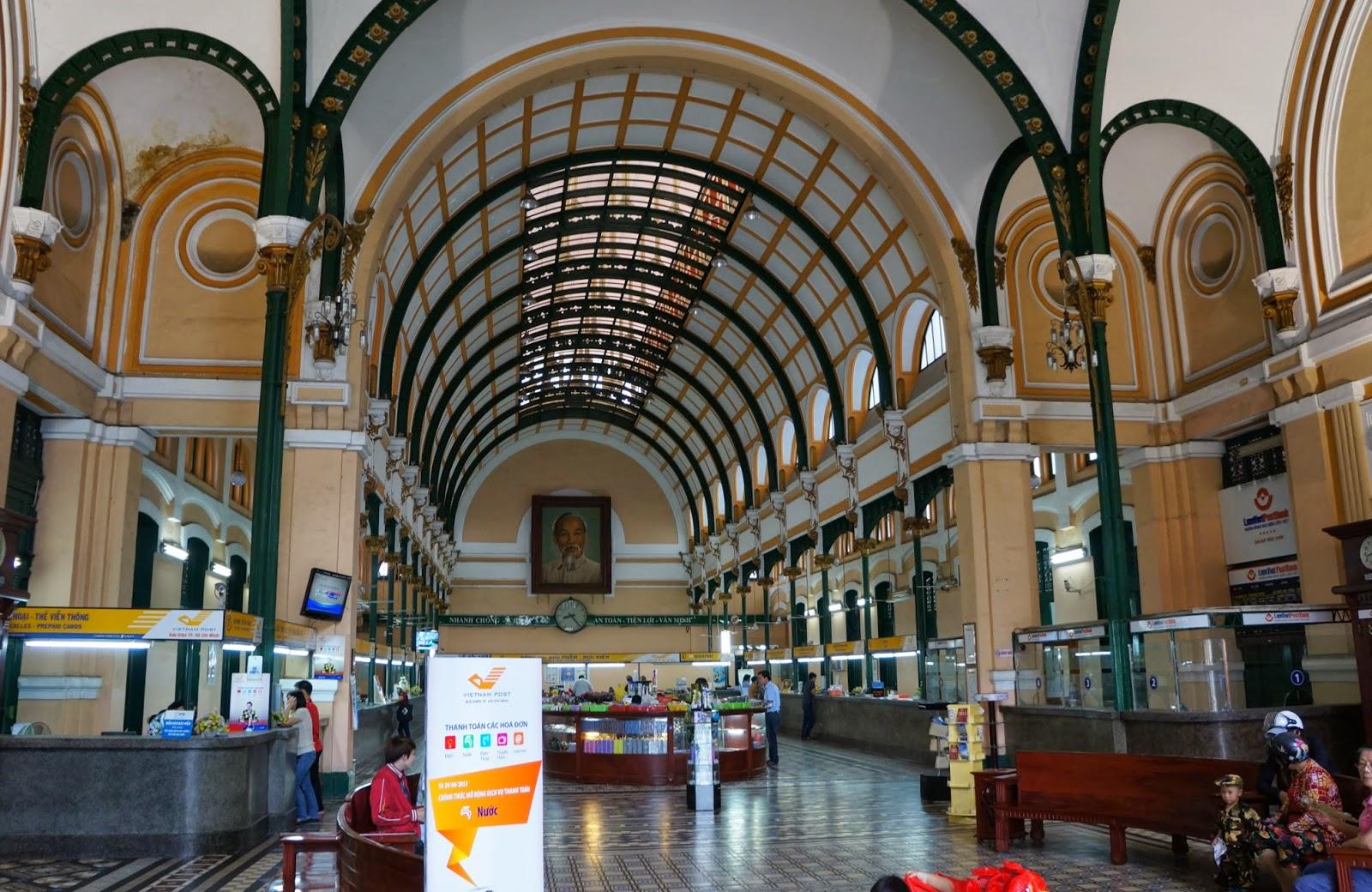 Saigon Central Post Office interior