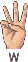 Bahasa Isyarat W