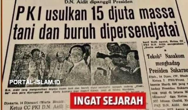 PKI Usulkan 15 Djuta Massa Tani dan Buruh Dipersendjatai