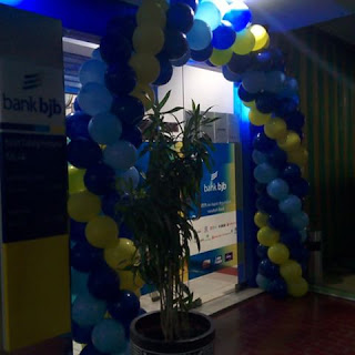 Balon dekorasi bank BJB