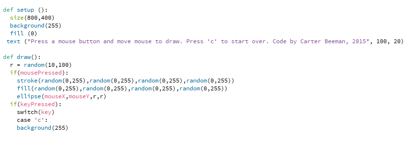 Processing in Python Mode: String of Random Circles!