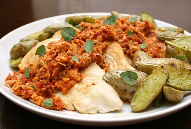 chicken with artichoke pesto