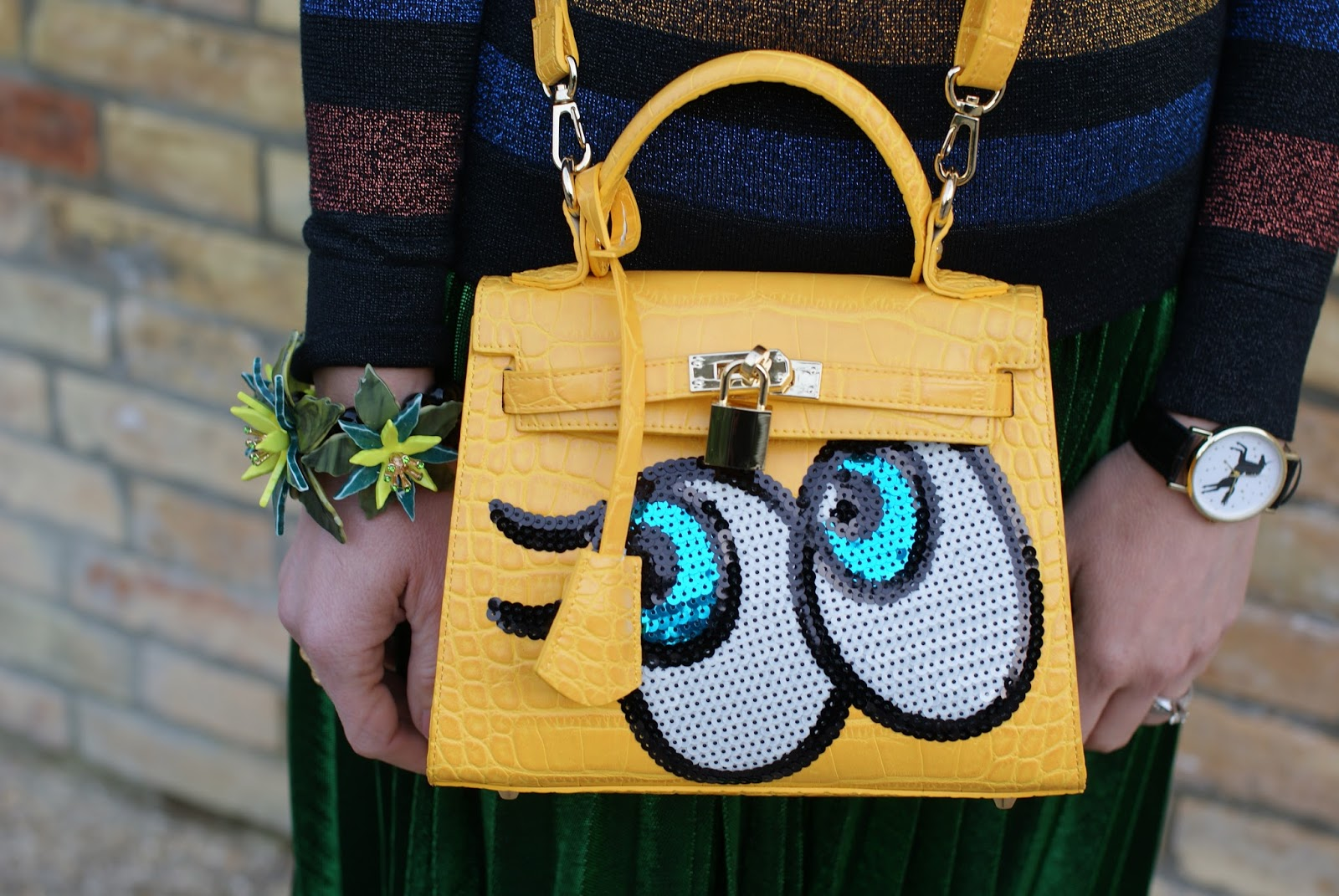 PlaynoMore shygirl yellow bag on Fashion and Cookies fashion blog, fashion blogger style