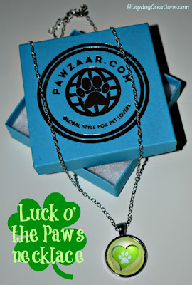 heart and paw necklace dog lover