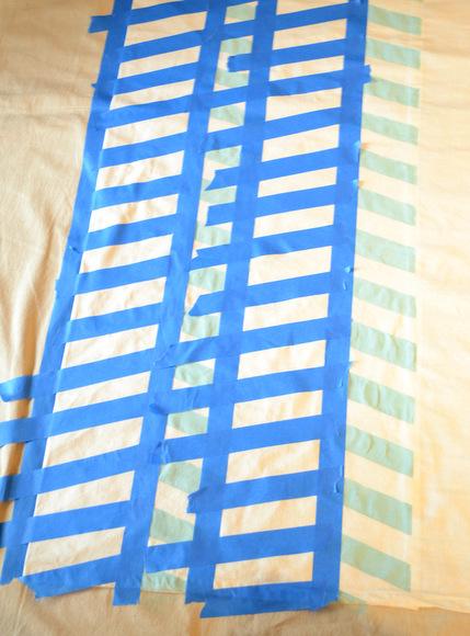 How to paint herringbone stripes