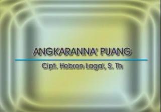 Lirik Lagu Toraja Angkaranna' Puang (Bambana Sion)