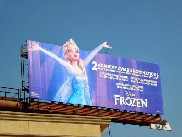 Frozen Academy Award special extension billboard