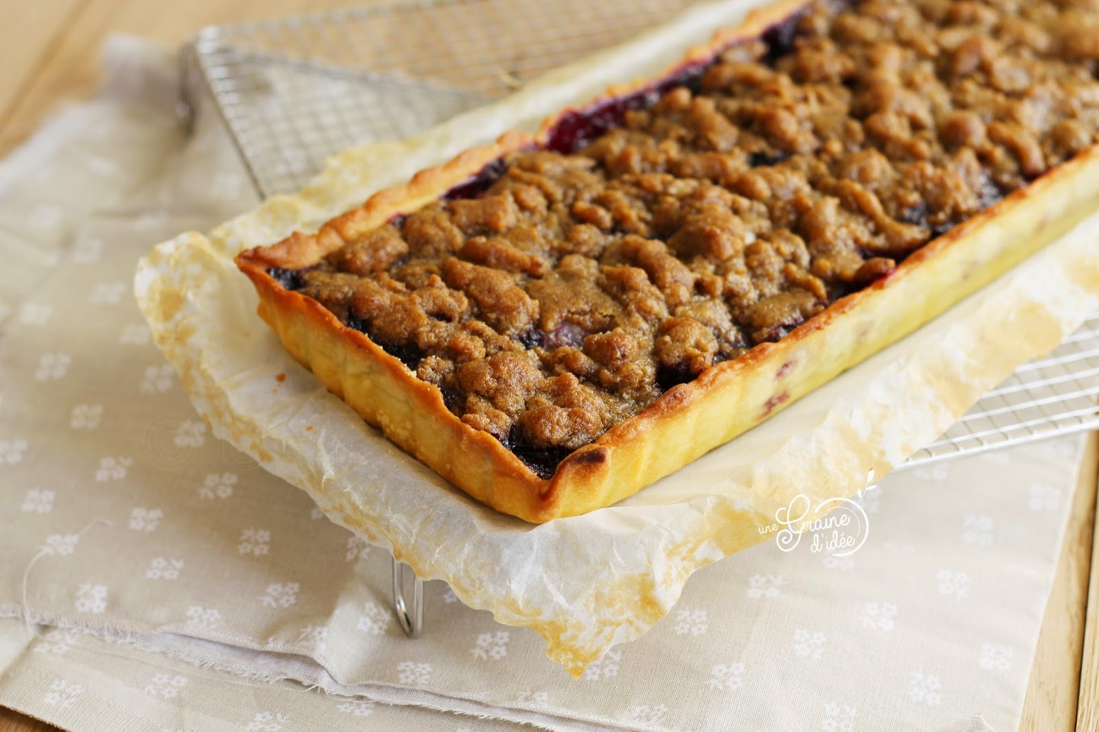 Tarte crumble fruits rouges - Une Graine d'Idée