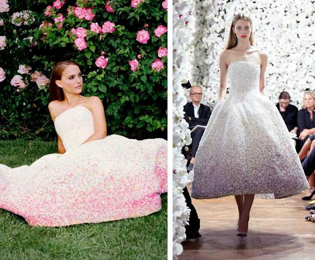 Perfume Miss Dior vestido do comercial